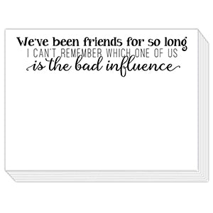 Bad Influence Friend Mini Slab Notepad