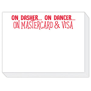 On Dasher, On Dancer Mini Slab Notepad