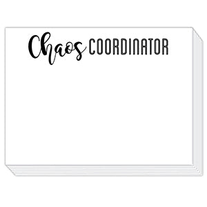 Chaos Coordinator Mini Slab Notepad