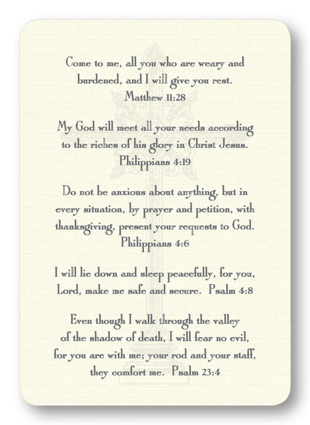 Verses for Comfort Prayer Enclosure Cards