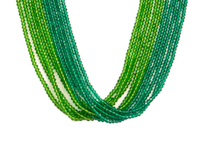 Ten String Twirl Necklace 0403 Turquoise