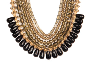 Five String Diva Necklace 10 Black