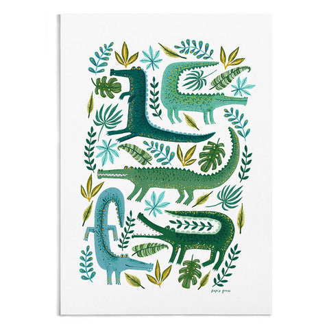 Crocodile Garden Artists Print