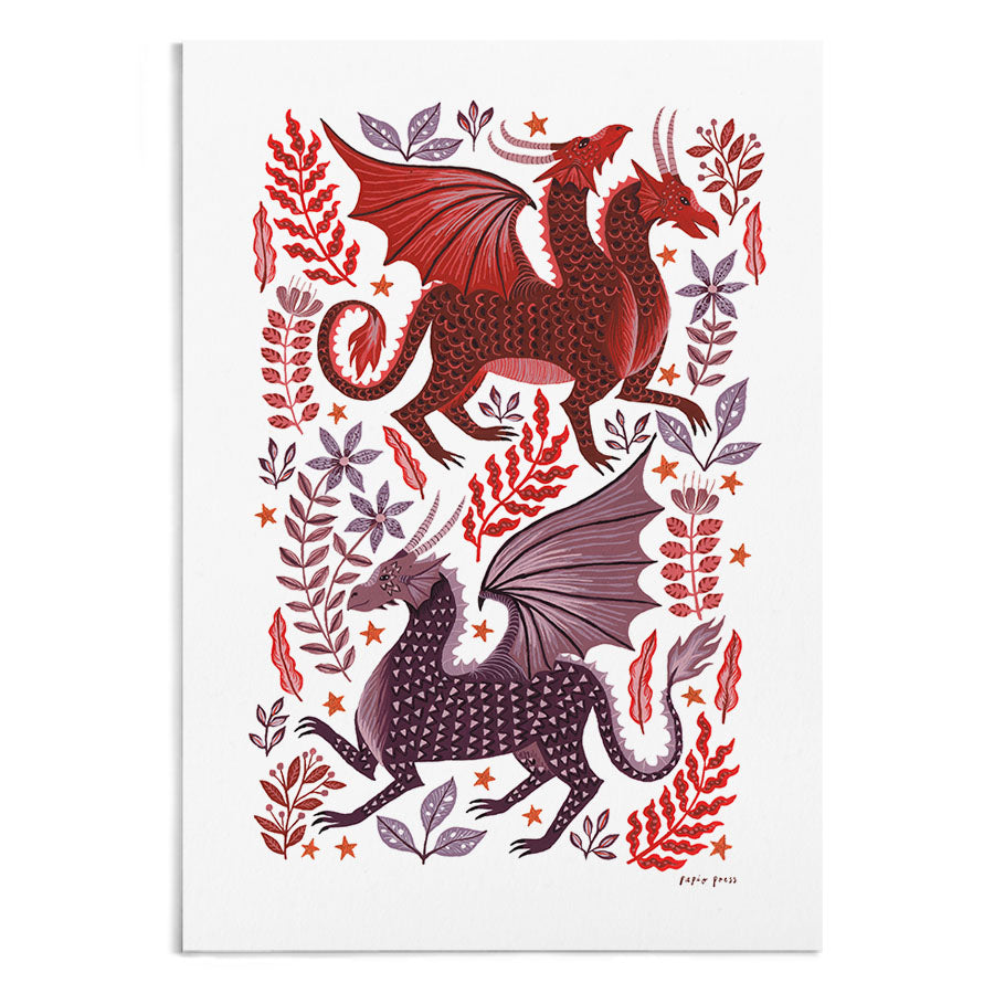 Dragon Garden Artists Print