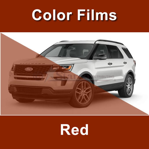 Red Color Window Tinting Film