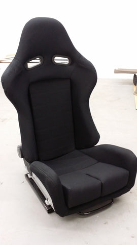 GS Reclinable Bucket Seat All Black