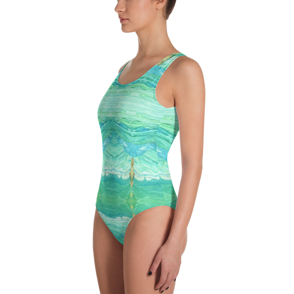 A Sea Green Leotard Swimsuit