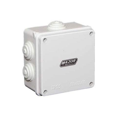 IP55 Junction Box with Rubber Gland - 100mm x 100mm x 70mm