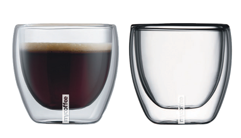 mycoffee cool touch double wall glassware 8.5 Fl. Oz - set of 2