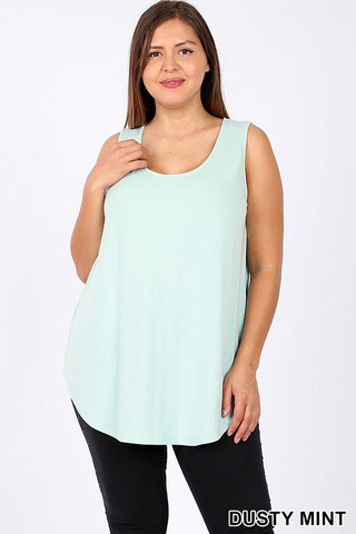 Dusty Mint Relaxed Fit Tank
