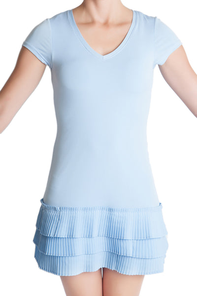 mille feuille french blue pleated party dress juicy couture free people