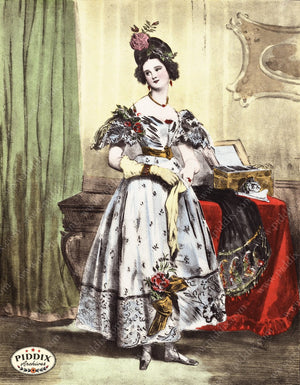 Pdxc3263 -- French Ladies Color Illustration