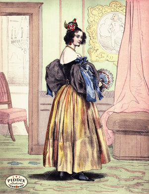 Pdxc3265 -- French Ladies Color Illustration