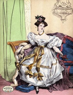 Pdxc3266 -- French Ladies Color Illustration