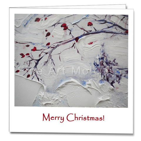 Cover of the Christmas Card featuring Robert Ixari's painting Frost detail