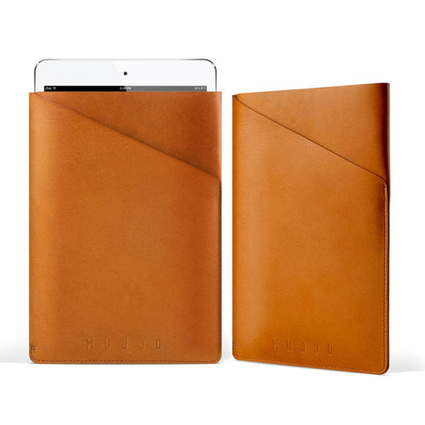Mujjo Slim Fit Leather Sleeve for Apple iPad Air 1/2 & Mini 1/2/3/4 - 1