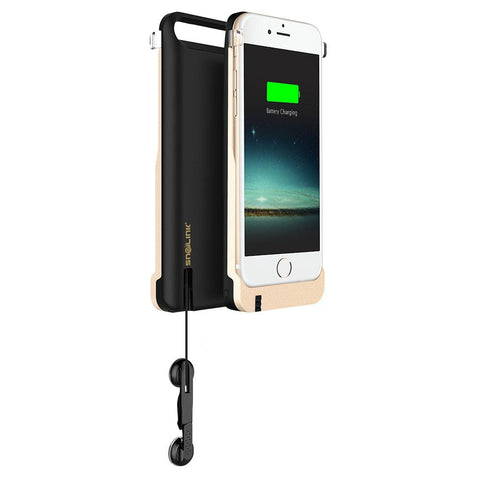 Snailink RAPPCase Battery Shell Case for Apple iPhone 6/6S/Plus w/ Retractable Earphones - 1