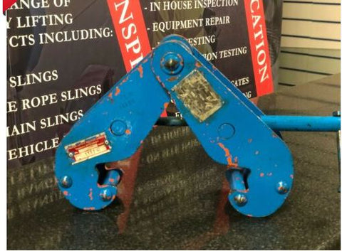 3000kg Lifting Beam clamp ex hire
