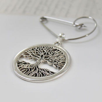 Tree of Life Swirl Brooch (168)