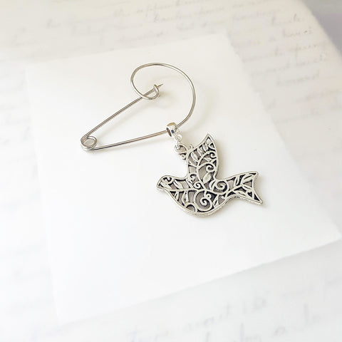 Peace Dove Swirl Brooch (31)