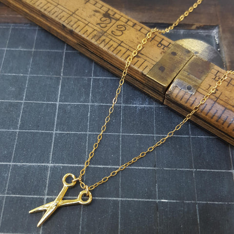 Gold Sewing Necklace (192)