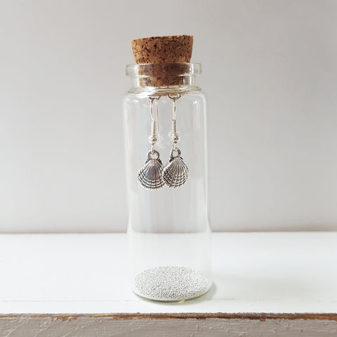 Little Scallop Earrings in a Bottle (105)