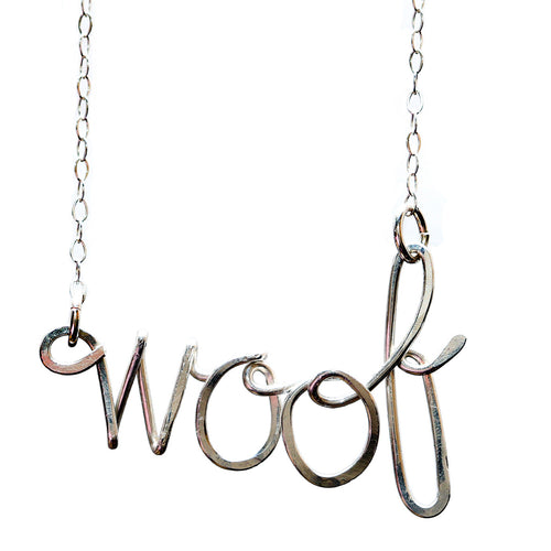 Woof Necklace - Sterling Silver