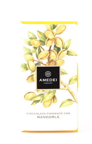 Amedei Mandorle 63% Dark Chocolate with Almonds-Chocolate-The Meadow