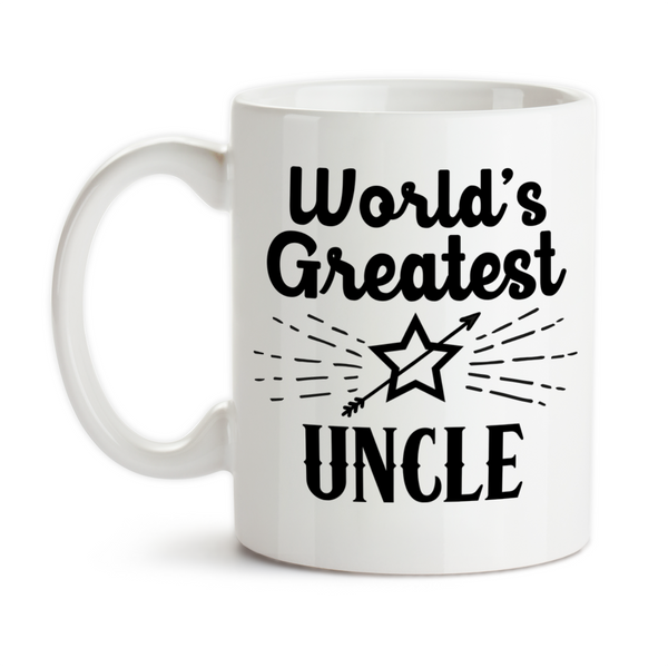 Coffee Mug, World's Greatest Uncle Niece Nephew Best Uncle #1 Favorite Birthday Christmas