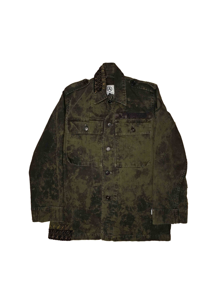 US ALTERATION // MILITARY JACKET WITH TWEED DETAIL