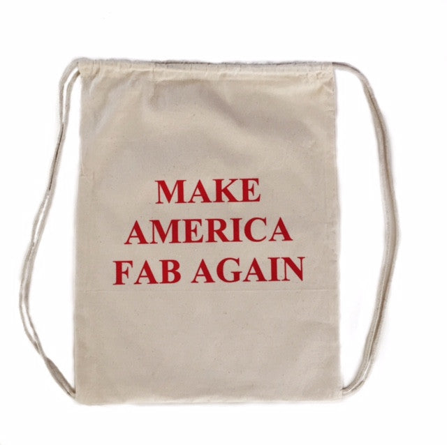 FP fabliving make america fab again cinch bag  (natural/red)