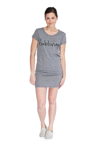 fabliving eco-jersey dress (eco grey/black)