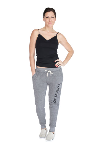fabliving fleece jogger pant (eco grey/black)