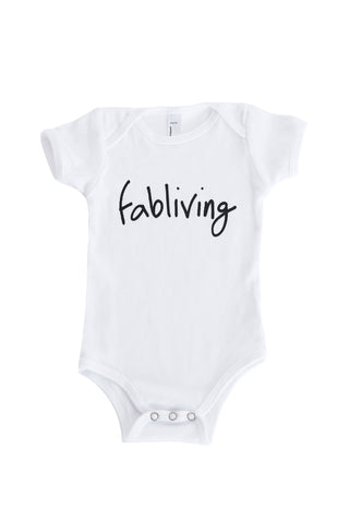 FP infant fabliving short sleeve one-piece (white/black)