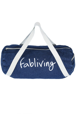 FP fabliving denim weekender bag (denim/white)