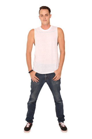 fabulous people solid muscle tee (white)
