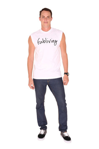 FP fabliving cotton muscle tee (white/black)