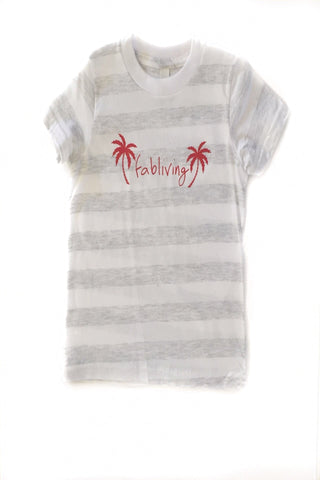 FP kids fabliving palm tree tee (white/red)