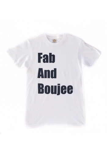 FAB AND BOUJEE cotton short sleeve tee (white/black)