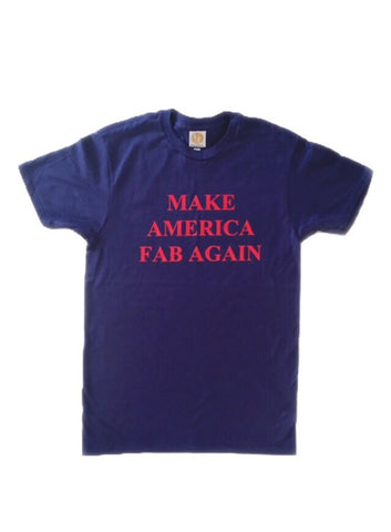 fabliving cotton short sleeve MAKE AMERICA FAB AGAIN tee (vintage blue/red)