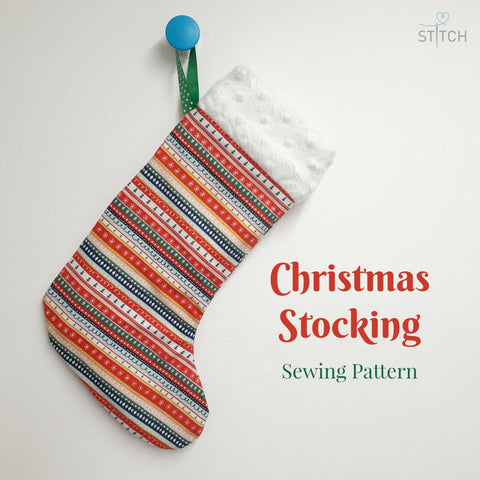 Christmas Stocking - Sewing pattern and Instructions
