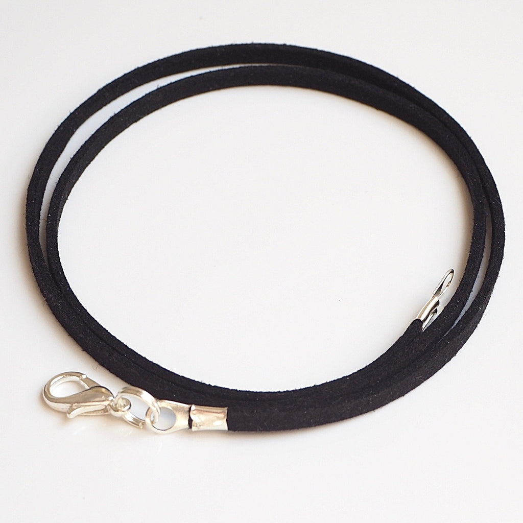 Synthetic suede necklace cord - black - Fired Creations