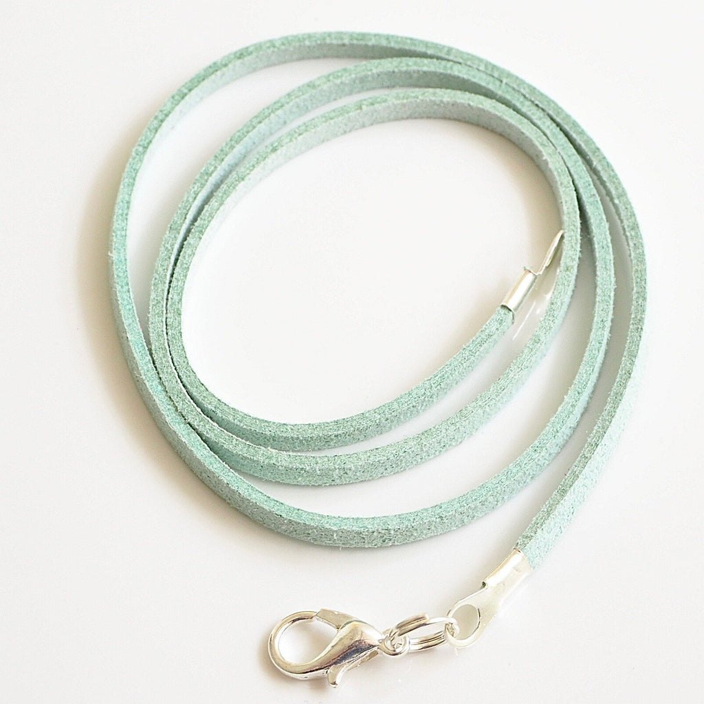 Synthetic suede necklace cord - peppermint - Fired Creations