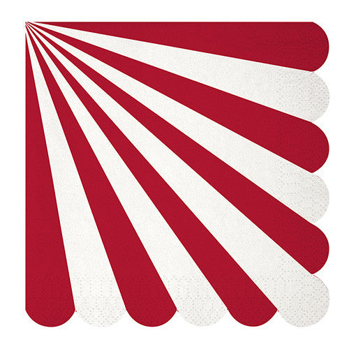 Red and White Stripe Large Napkins