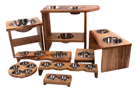 Pet elevated dinner bars