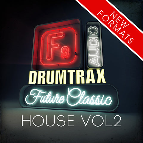F9  Drumtrax Future Classic Vol2 Drum and FX Stems - House 124-128 BPM - F9 Audio Royalty Free loops & Wav Samples