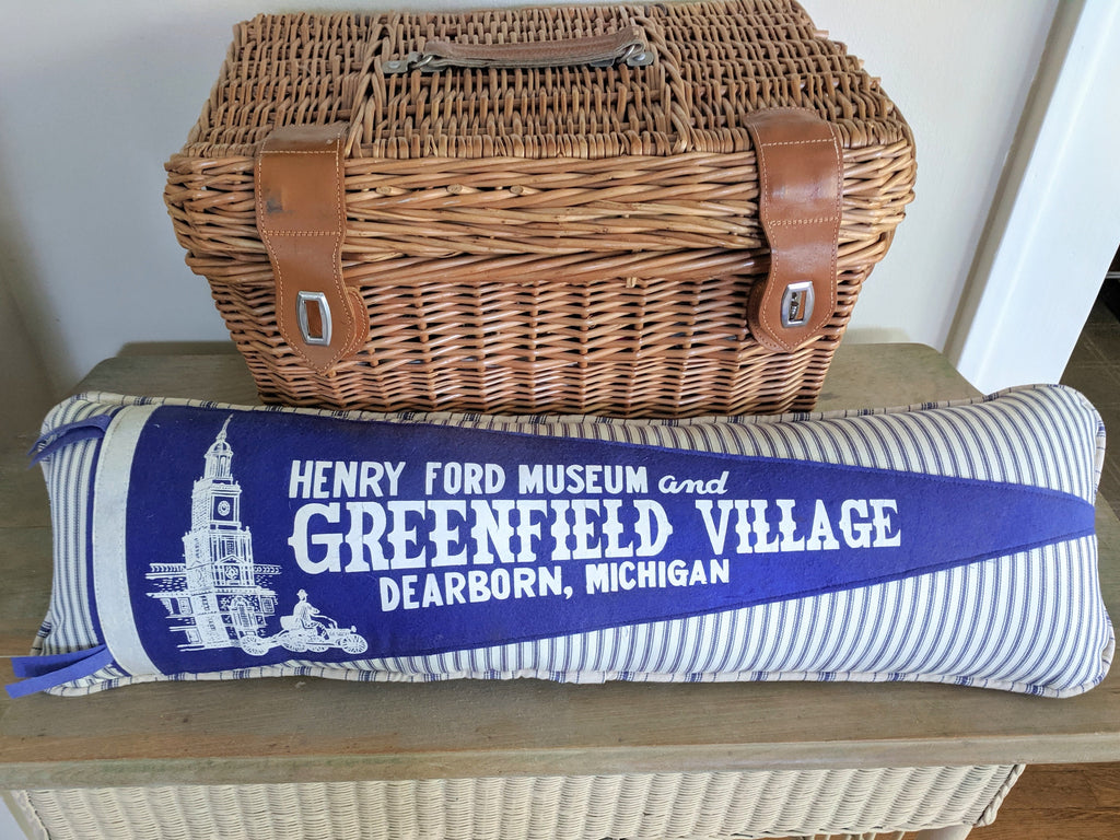 Henry Ford Museum & Greenfield Village VIntage Pennant Pillow