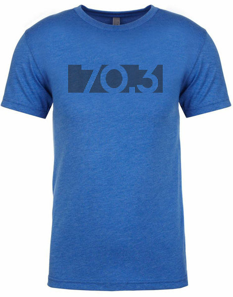 "Men's short sleeve triathlon tshirt ""70.3 bar code"" by Endurance Apparel"