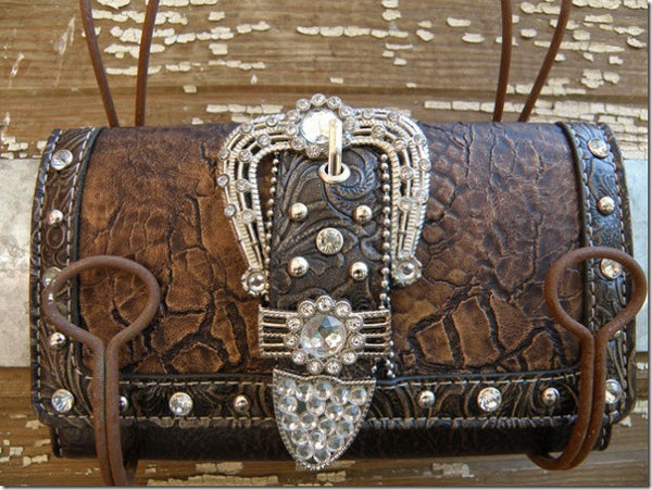 Croc & Bling Cowgirl Wallet