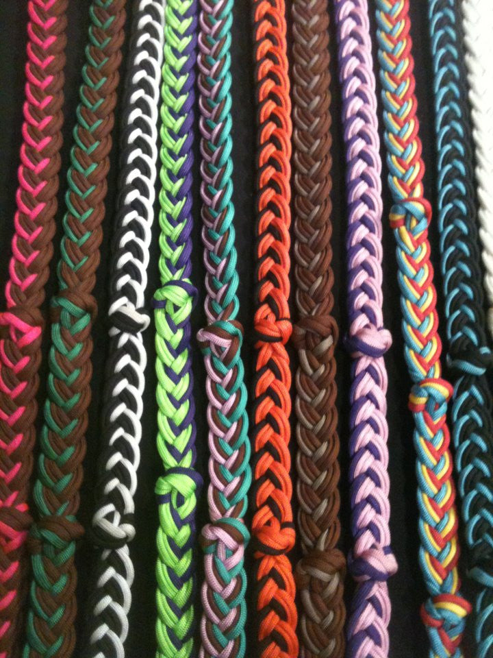 Handmade Extra Heavy Knotted Barrel Racing Reins (Custom Colors!)